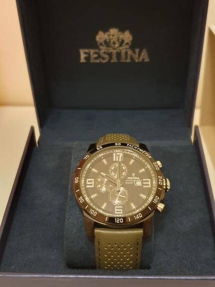 Relógio Festina Tachymeter Chronograph De R$ 1.299 Por R$999