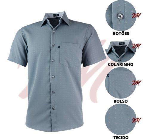 Imagem 1 de 3 de Camisa Masculina Evangelica Temos Plus Size Não Amassa 3005