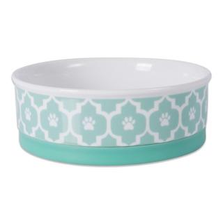 Dii Bone Dry Lattice Ceramic Medium Pet Bowl For Food & Wate