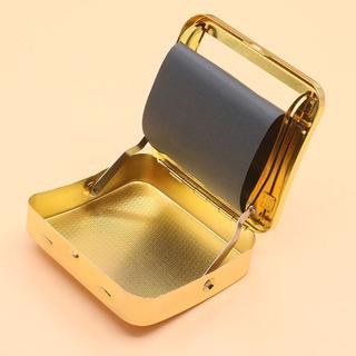 Caja Cigarrera De Metal Con Roladora Automática En La Tapa