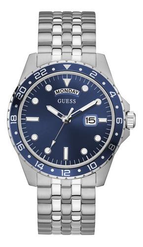 Reloj Para Hombre Guess Comet Color Plateado Gw0220g1