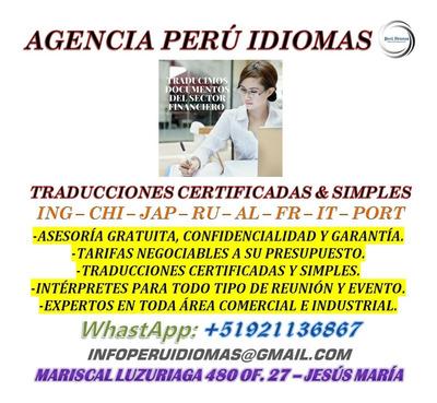 Traducciones Certificadas Precios Cómodos
