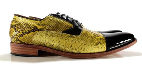 Imagen 1 de 7 de Zapato Oxford Hombre Cuero Vac Diseño Dante By Ghilardi