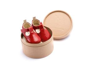 Sapato Baby Recém Nascido Tip Toey Joey Love Vermelho