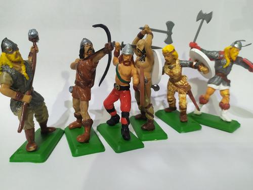 6 Figuras Soldados Vikingos Soldaditos De Juguete La Plata