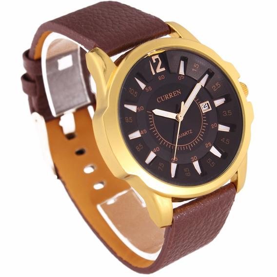 Relógio De Pulso Curren Masculino.com Etiquetas E Case Box.
