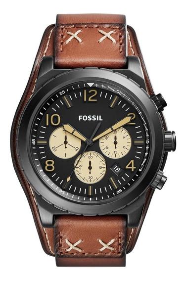 Relógio Fossil Oakman Masculino Pulseira De Couro Ch3066/opn
