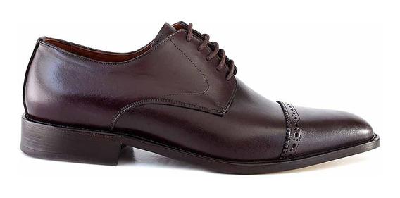 Zapato Hombre Briganti Cuero Acordonado Moda Hcac00793