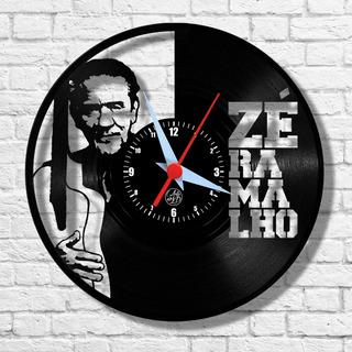 Zé Ramalho Cantor Artista Relógio Vinil Parede Lp