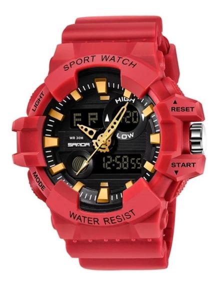 Relógio Masculino Sport Watch Estilo Militar Grande E Pesado