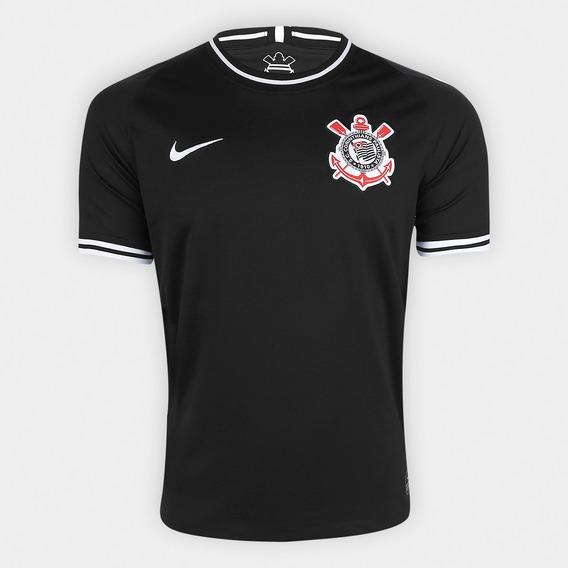 Camisa Corinthians Ii 19 Preta Personalizável Frete Grátis