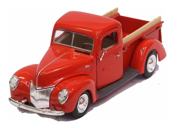 Miniatura Pickup Ford 1940 Vermelha Motormax 1/24