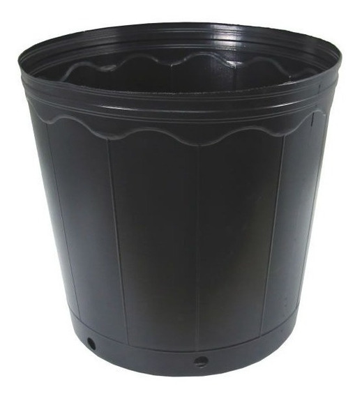 100 Vasos Pote Preto Para Mudas Plastico 1 Litro