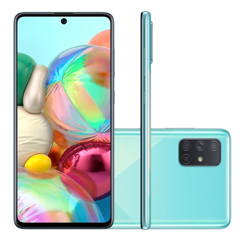 Smartphone Samsung Galaxy A71 Tela 6.7 128gb 6gb Ram Android