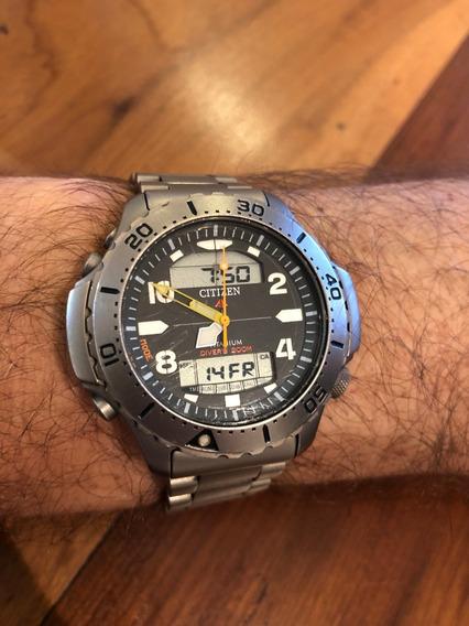 Relógio Citizen Aquamount Jp3050-55w Titanium