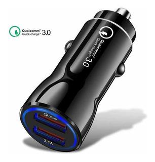 Carregador Veicular Turbo 3.1a Dual Usb Fast Charge