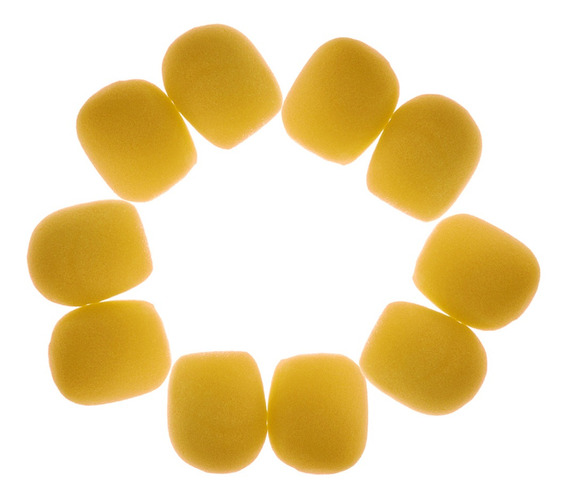 Amarelo Handheld Cobertura Espuma Pára-brisas Dj Karaoke Mic