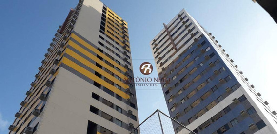 Apartamento Com 2 Dormitórios À Venda, 51 M² Por R$ 220.000 - Jacareacanga Com Área De Lazer Completa - Fortaleza/ce - Ap0415