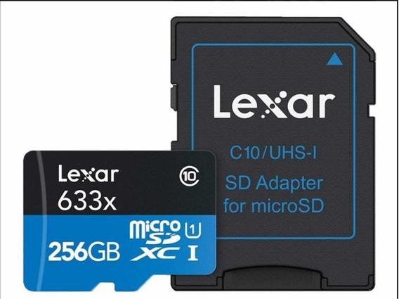 Cartão Lexar 256gb Micro Sd