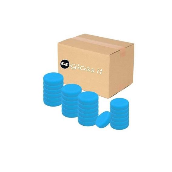 Brillo-it (bffp-3-c) Azul 3.75 Acabado De La Almohadilla De
