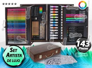 Kit Dibujo Arte Pintura Colores Pasteles Oleo Acrilico Set E