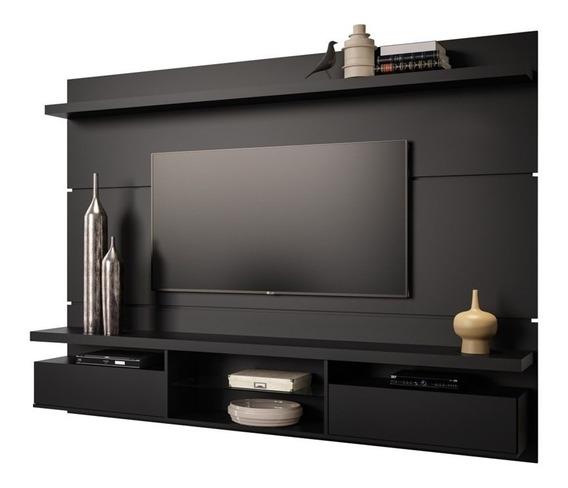 Painel De Tv 60 Bancada Suspensa Livin 2.2 Preto Fosco Hb