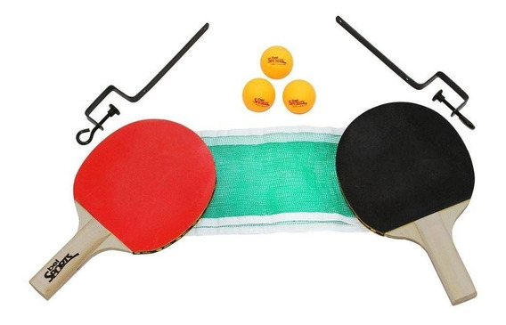 Kit De Tênis De Mesa Raquetes Rede E Bolas 485500 Belfix
