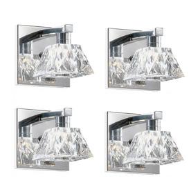 4 Arandela Vidro Cristal Espelho Cabeceira Quarto Sala Alz5