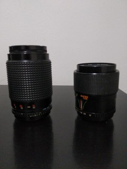 Kit De Lentes Zenit 28/70mm E 70/210mm Usadas.