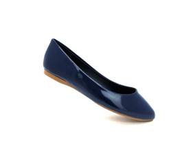 Flats Azules Casuales Para Mujer 7shoes 915