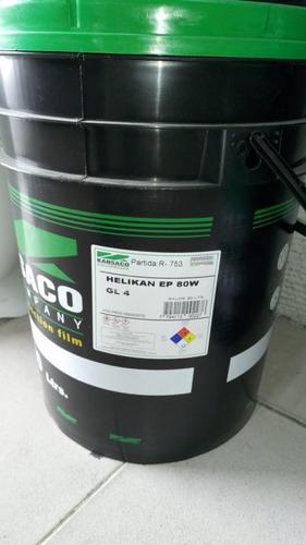 Aceite Helikan Kansaco Ep 80w Gl4 Balde/tacho 20lt.