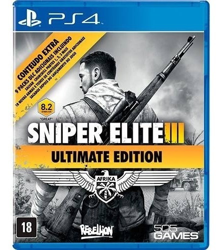 Jogo Sniper Elite 3 Ultimate Edition Playstation 4 Ps4
