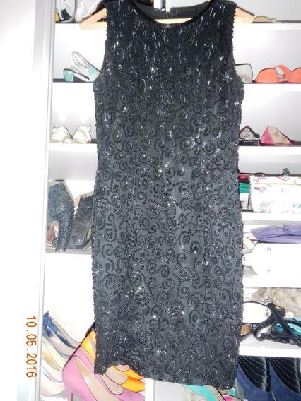 Vestido Lentejuelas Negro Corto Importado