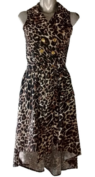 Sexy Saco Trench Bluson Cola Cauda Animal Print Pin Up Tigre