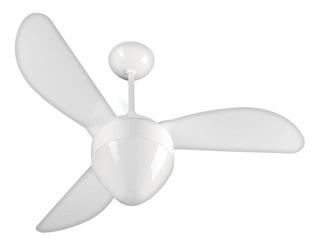 Ventilador De Teto Gale Branco Para 2 Lâmpadas Luxo Ponente