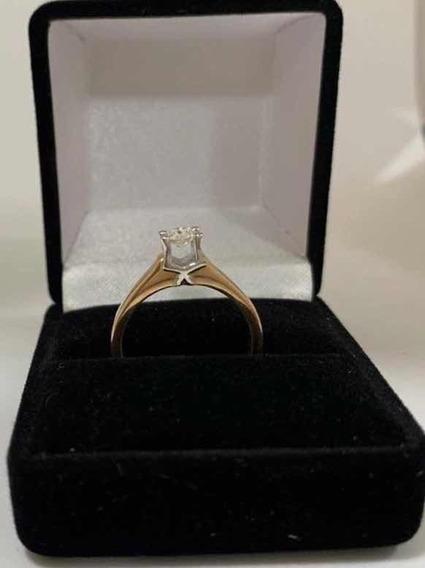 Anillo Compromiso Diamante 30pts Oro Rosa/blanc 14k + Regalo