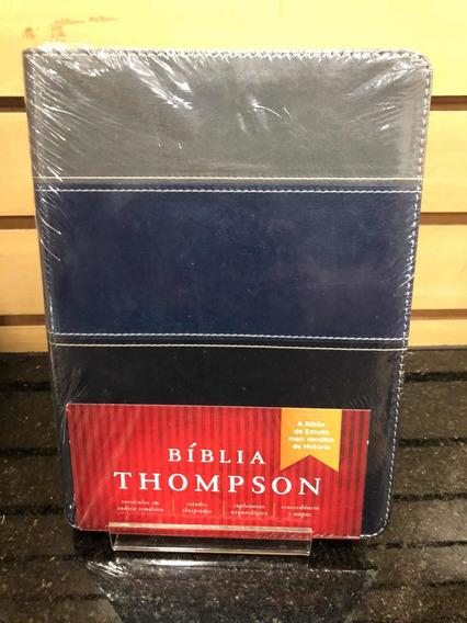 Biblia Estudo Thompson Média - Azul E Cinza