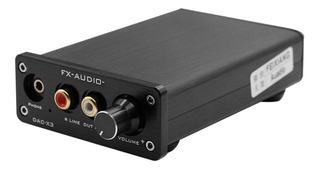 Fx -audio Dac -x3 Decodificador Usb Fibra 24bit 192khz Dac A