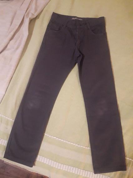 Pantalón Gris Escolar Tipo Jean T. 10