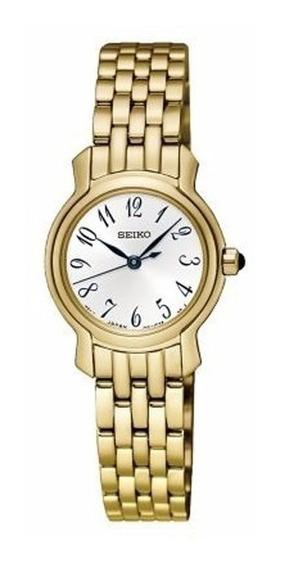 Reloj Seiko Sxgp64 Quartz Dorado 50m Dama Mujer Acero Inox