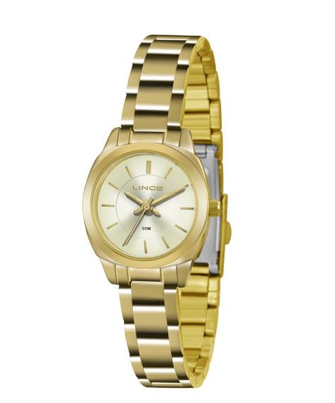 Relógio Lince Pequeno Todo Dourado Lrg4436l C1kx