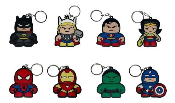 Chaveiros Vingadores P/ Brinde Super Herois 80 Peças Revenda