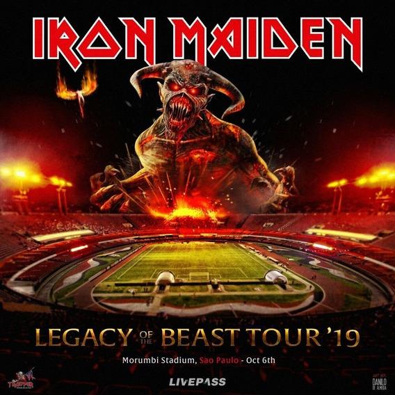 Iron Maiden - Dvd Ao Vivo São Paulo 2019 + Cd Brinde