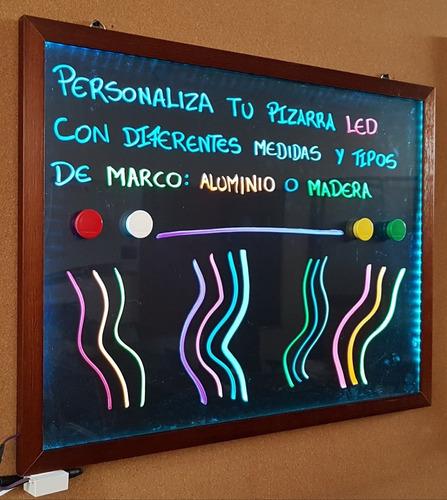 Pizarra Led Marco De Madera Quito. Única En El Mercado