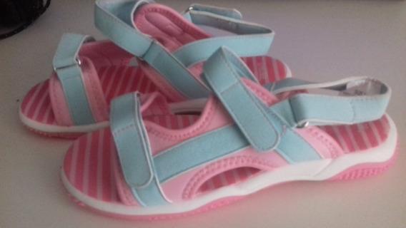 Sandália Gymboree Rosa E Azul