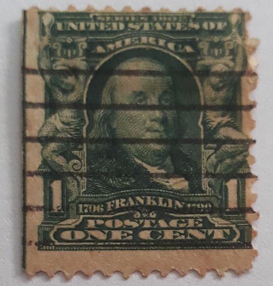 Estampilla Estados Unidos Franklin 1903