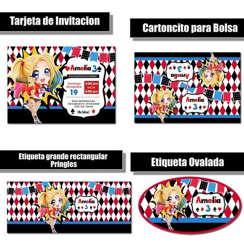 Imagen 1 de 4 de Kit Imprimible Harly Queen Rr38 Candy Bar Cumple Fiesta Coti