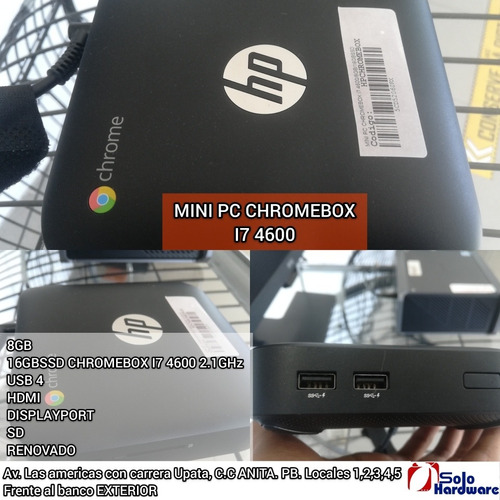 Imagen 1 de 1 de Mini Pc Chromebox I7-4600