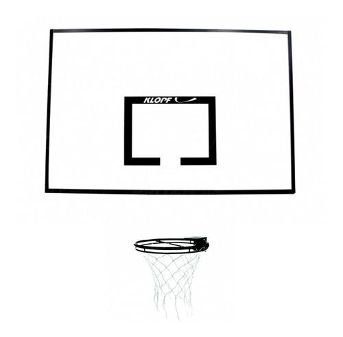 Imagem 1 de 4 de Kit Tabela De Basquete Juvenil Compensado Naval C/ Aro Klopf
