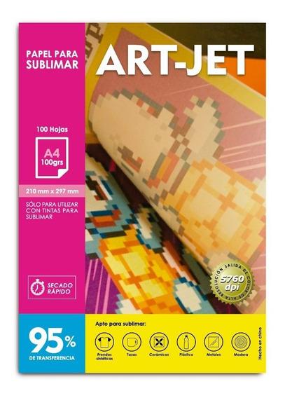 Papel Para Sublimar Específico A4 Art-jet® 100 Hojas.